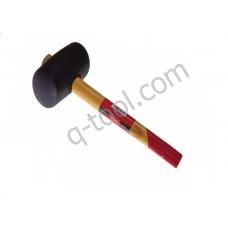 Киянка резиновая с деревянной ручкой  360 гр Quality Tool