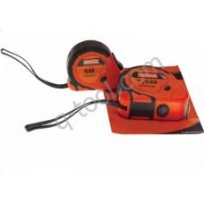 Рулетка 10м x 25мм с металлическим полотном,упрочненный корпус Orange