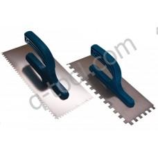 Гладилка  Quality Tool нержавеющая сталь 280х130 мм,зуб 6х6 (Польша)